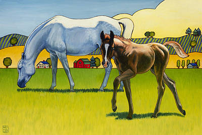 Arabian Horses Painting - Curious George by Stacey Neumiller