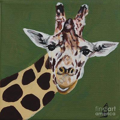 Painting - Curious Giraffe by Annette M Stevenson