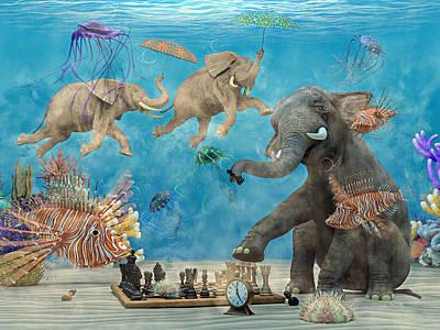 Elephant Digital Art - Curious Ocean by Betsy Knapp