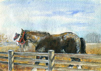 Curious Pair Art Print by Mary Armstrong