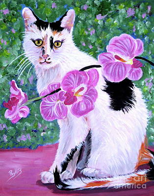 Painting - Curious Pico With Orchid by Phyllis Kaltenbach