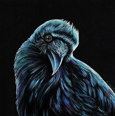 Wall Art - Painting - Curious Raven by Alison Newth