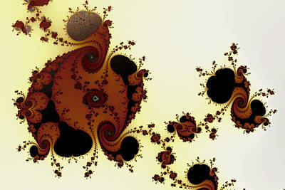 Abstract Digital Art - Curious Shapes And Spirals No. 2 by Mark Eggleston