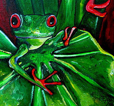 Painting - Curious Tree Frog by Patti Schermerhorn