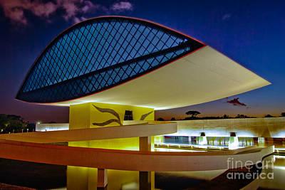 Photograph - Curitiba - Brazil - Museu Niemeyer by Carlos Alkmin