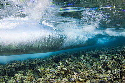 Curl Of Wave From Underwater Art Print by Dave Fleetham - Printscapes