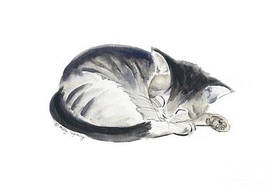 Painting - Curl Up by Melly Terpening