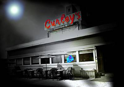 Curley's Diner Art Print by Diana Angstadt