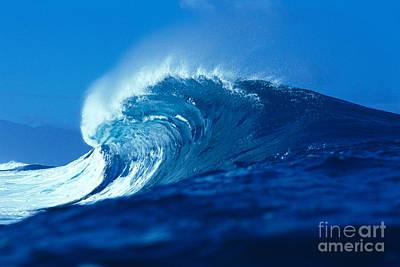 Curling Blue Wave Art Print