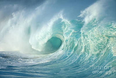 Curling Wave Art Print
