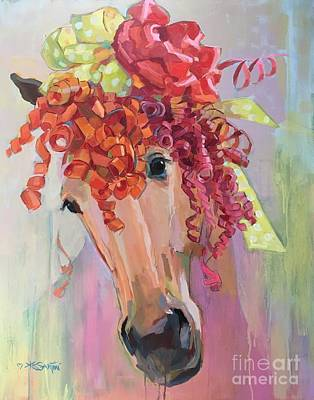 Forelock Painting - Curls by Kimberly Santini