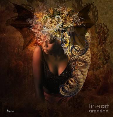 Digital Art - Curls Of Gold by Ali Oppy