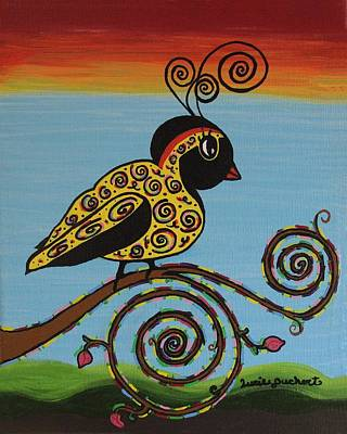 Painting - Curly Bird by Lucie Buchert