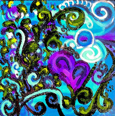 Curly Hearts Gone Askew Original