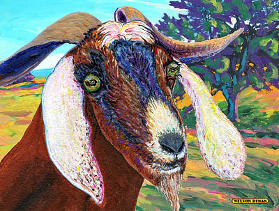 Painting - Curly Horns by Nelson Dynan