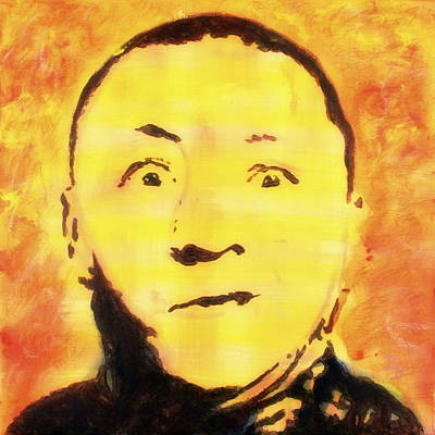 Painting - Curly Howard Three Stooges Pop Art by Bob Baker
