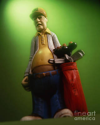 Golf Statues Photograph - Curmudgeon by Perry Danforth