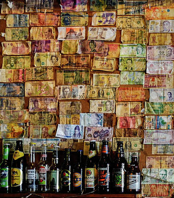 Photograph - Currency Collage by Jocelyn Kahawai