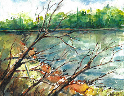 Painting - Current River Missouri In Early Autumn by Jacki Kellum