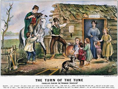 Currier  Ives Folk Tradition Art Print by Granger