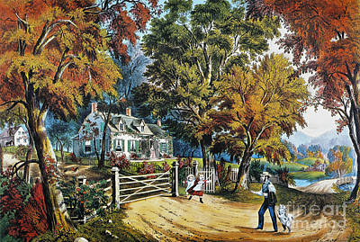 Photograph - Currier & Ives: Home Sweet Home by Granger