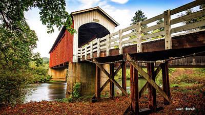 Photograph - Currin Covered Bridge by Walt Baker