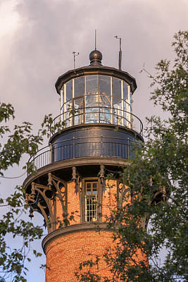 Photograph - Currituck Beach Lighthouse Close-up by Liza Eckardt