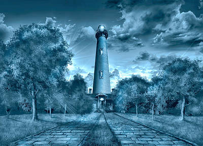 Currituck Painting - Currituck Beach Lighthouse by Bekim Art