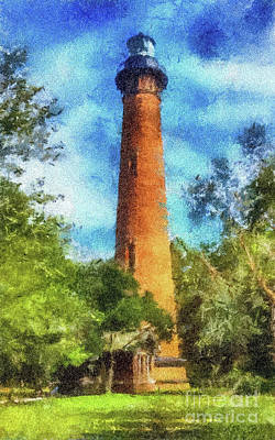 Painting - Currituck Lighthouse by Betsy Foster Breen