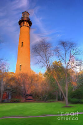 Painting - Currituck Lighthouse In Winter Outer Banks Ap by Dan Carmichael