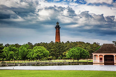 Photograph - Currituck Lighthouse - Whalehead Boathouse by Pete Federico