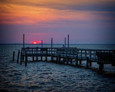 Photograph - Currituck Sunset by Alan Raasch
