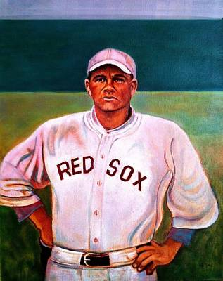 Babe Ruth Painting - Curse Of The Bambino by John Kennedy Wilson