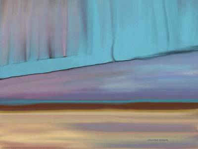 Curtain At The End Of Day Art Print by Lenore Senior
