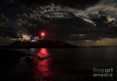 Curtain Call At Nubble Lighthouse Print by Scott Thorp