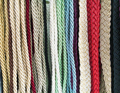 Curtain Cords Print by Tom Gowanlock