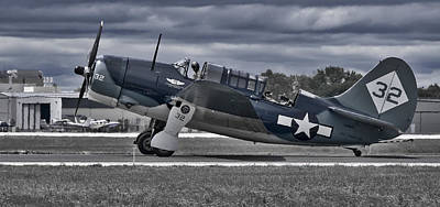 Photograph - Curtiss Helldiver by Steven Ralser