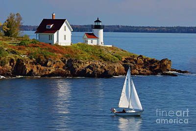 Curtis Island Lighthouse - D002652b Art Print