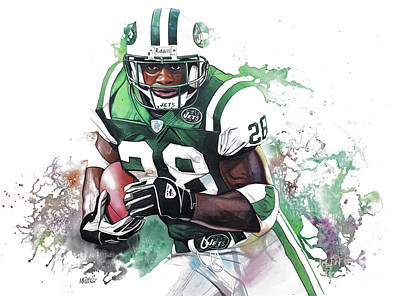 Curtis Martin New York Jets  Art Print