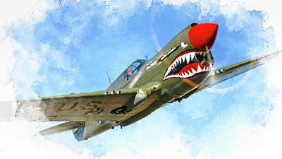 Painting - Curtis P-40 - 03 by Andrea Mazzocchetti