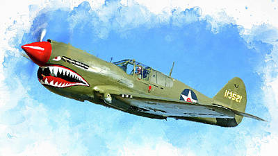 Painting - Curtis P-40 - 05 by Andrea Mazzocchetti