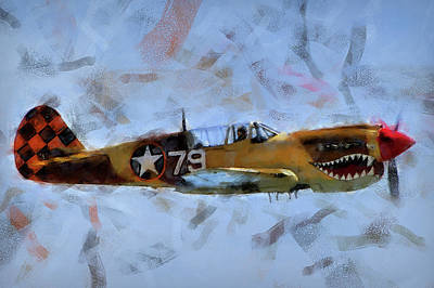 Painting - Curtis P-40 - 07 by Andrea Mazzocchetti