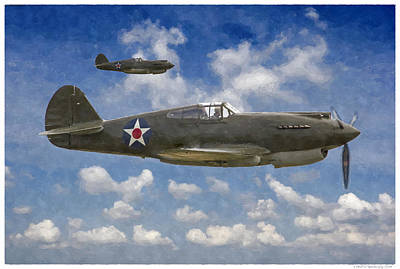 Digital Art - Curtis P-40 Warhawks by Kai Saarto