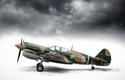 Digital Art - Curtiss P-40 Warhawk by Douglas Pittman