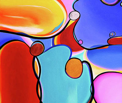 Curvaceous Abstract Art Print