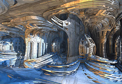 Digital Art - Curvaceous Architecture by Hal Tenny