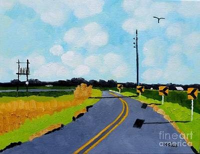 Cambridge Painting - Curve, Cambridge, Md. by Lesley Giles
