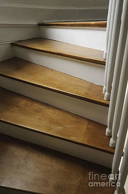 Photograph - Curve Of The Stairs by Debra Fedchin