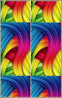 Curved Abstract Art Print