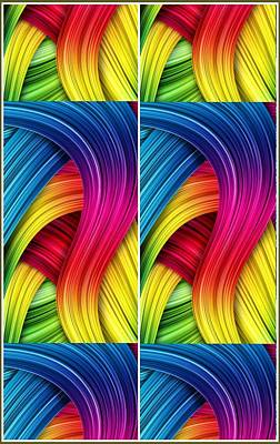 Digital Art - Curved Abstract by Sheila Mcdonald